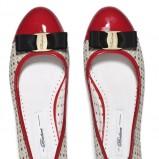 baleriny Badura z lakierowanym, czerwonym czubkiem - obuwie damskie na wiosnę 2013