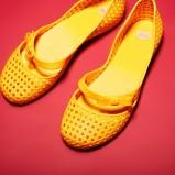 baleriny MEL w kolorze żółtym z dziurkami - lato 2013