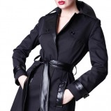 bardzo elegancki płaszcz Né Comme Ça w kolorze czarnym - jesień - zima 2012/2013