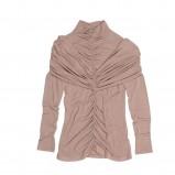 beżowa bluzka Bialcon marszczona - z kolekcji jesień-zima