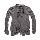 beżowa bluzka Big Star marszczona błyszcząca - jesień/zima 2011/2012