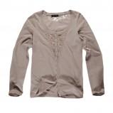 beżowa bluzka Big Star z koronką - sezon jesienno-zimowy