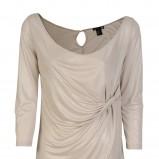 beżowa bluzka H&M marszczona - lato 2012