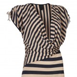 beżowa bluzka InWear w paski - moda 2012