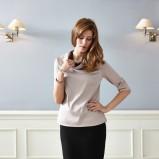 beżowa bluzka Quiosque - moda jesień/zima 2013/14