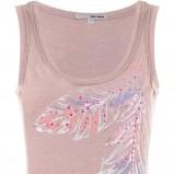 beżowa bluzka Tally Weijl z nadrukiem - jesień 2011