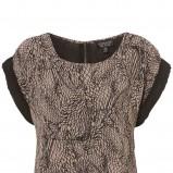 beżowa bluzka Topshop we wzory - sezon wiosenno-letni