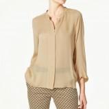 beżowa bluzka ZARA - moda zimowa