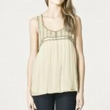 beżowa bluzka ZARA w paski - wiosna/lato 2011