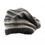 beżowa czapka Big Star w paski - jesień/zima 2011/2012