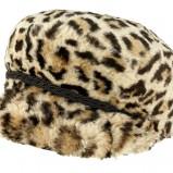 beżowa czapka River Island panterka futrzana - jesień 2011