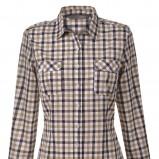 beżowa koszula Top Secret w kratkę - moda jesień/zima