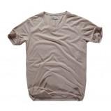 beżowa koszulka Big Star - moda wiosna/lato