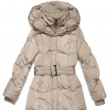 beżowa kurtka Butik pikowana - moda zimowa