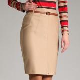 beżowa spódnica Orsay z paskiem - jesień/zima 2011/2012