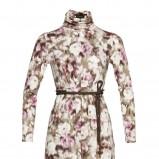 beżowa sukienka Caterina w kwiaty - jesień/zima 2011/2012