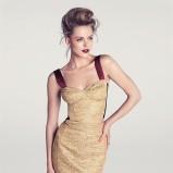 beżowa sukienka H&M - wiosenna kolekcja
