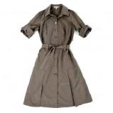 beżowa sukienka Hexeline z paskiem - lato 2011