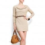 beżowa sukienka Mango - kolekcja wiosenna