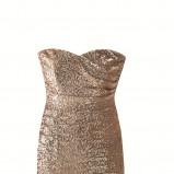 beżowa sukienka Orsay z cekinami błyszcząca - kolekcja jesienno-zimowa