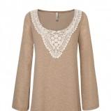 beżowa sukienka Stradivarius z koronką - moda 2011
