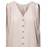 beżowa tunika H&M - trendy wiosenne