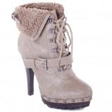 beżowe botki Freya na obcasie - trendy na jesień-zimę