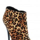 beżowe botki Styleup panterka wysokie - jesień 2011