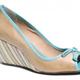 beżowe czółenka Badura peep toe - buty na lato