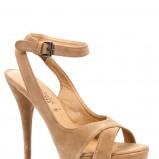 beżowe sandałki New Look z zamszu - zima 2011/2012