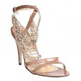 beżowe sandały Quazi z łańcuszkiem - moda wiosna/lato