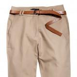 beżowe spodnie Reserved z paskiem - z kolekcji wiosna-lato 2012