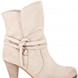 beżowe wysokie buty Wojas - wiosna-lato 2011
