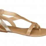 Beżowo-złote sandały Deichmann, cena