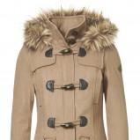 beżowy płaszcz s.Oliver z kapturem - jesień/zima 2011/2012
