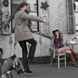 beżowy płaszcz Top Secret - jesień 2012
