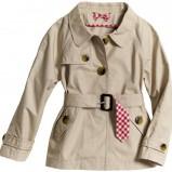 beżowy płaszczyk H&M z paskiem - wiosna/lato 2012