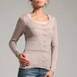 beżowy sweter Orsay z guzikami - jesień/zima 2011/2012