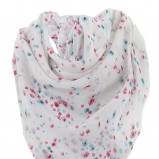 biała apaszka Tally Weijl w kwiaty - moda 2011