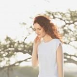 biała bluzeczka Lidl - modny len