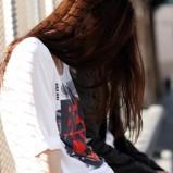 biała bluzka Bench z nadrukiem - wiosna-lato 2012