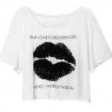 biała bluzka H&M z nadrukiem - kolekcja wiosenno/letnia