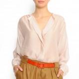biała bluzka Mango błyszcząca - wiosna/lato 2011