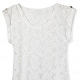 biała bluzka Mohito koronkowa - trendy wiosenne