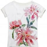 biała bluzka Reserved w kwiaty - trendy 2012