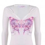 biała bluzka Tally Weijl z nadrukiem - wiosna/lato 2011