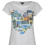 biała bluzka Top Secret z nadrukiem - z kolekcji wiosna-lato 2012
