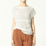 biała bluzka ZARA - sezon wiosenno-letni