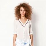 biała koszula Bershka - moda na lato 2013