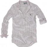 biała koszula Pull and Bear w paski - wiosna/lato 2011